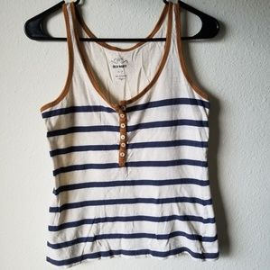 old navy tank top size small petite nautical